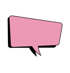 Pink speech bubble dialog comic vector
