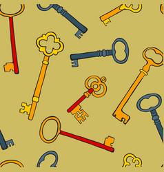 retro keys colorful seamless pattern vector image
