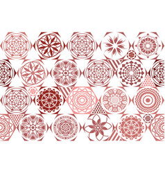 Brown seamless ceramic tile with colorful vector
