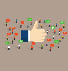 Like thumbs up social media public engagement vector