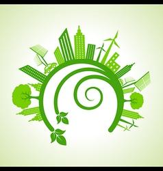 Ecology concept - eco cityscape vector