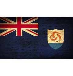 Flags anguilla with dirty paper texture vector