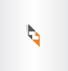 Orange black letter z logo element vector
