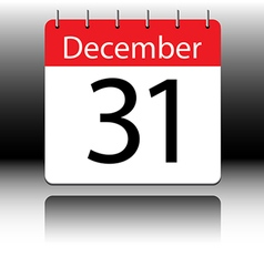 Calendar of december on black background vector