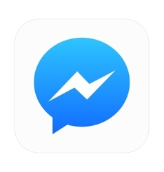 Modern chat app icon on white vector