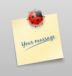 ladybird magnet pin vector image