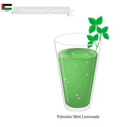 Limonana or in palestinian frozen mint lemonade vector