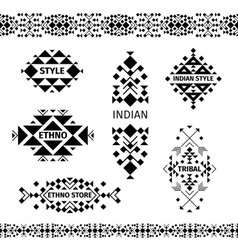 Tribal shop labels set vector