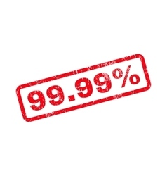 9999 Percent Text Rubber Stamp vector image vector image