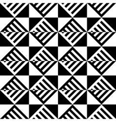 Abstract black and white seamless pattern line vector