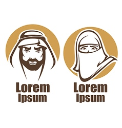 Arabian man and woman vector