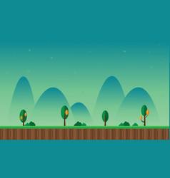 At night scenery hill game background vector