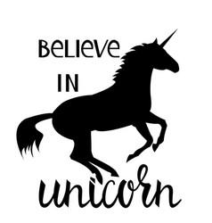 believe in the unicorn vector image