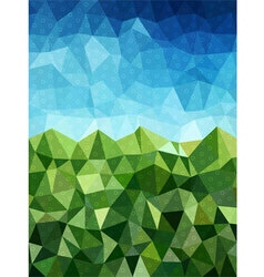 Blue and green background with circle pattern vector