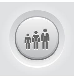 Career growth icon grey button design vector