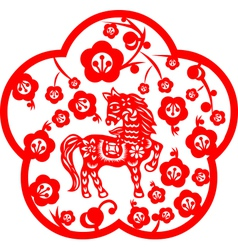 Chinese New Year Horse vector image vector image
