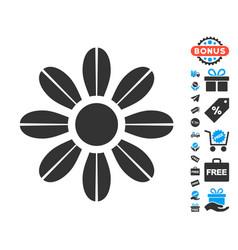 Daisy flower icon with free bonus vector