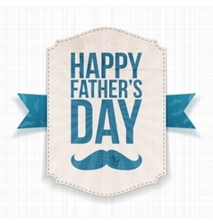 Happy Fathers Day festive Banner with Ribbon vector image vector image
