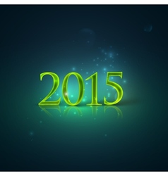 happy new year 2015 holiday background with shiny vector image