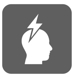 Headache flat squared icon vector