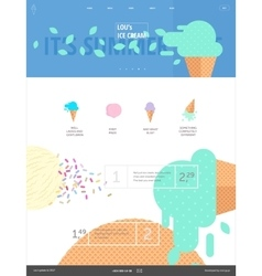 Ice cream website pink template vector image vector image
