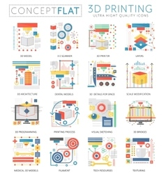 Infographics mini concept 3d printing technology vector