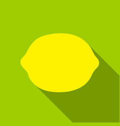 Lemon icon flat singe fruit icon vector