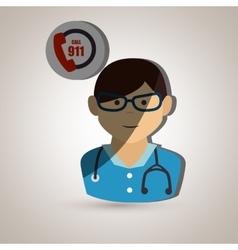 Medical emergency design vector
