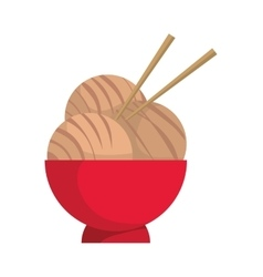 Noodle icon japan culture graphic vector
