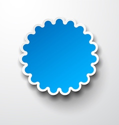 Paper blue round flower note vector
