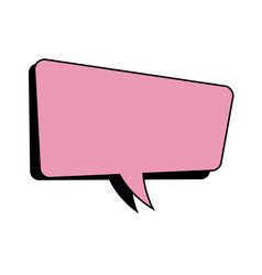 pink speech bubble dialog comic vector image vector image