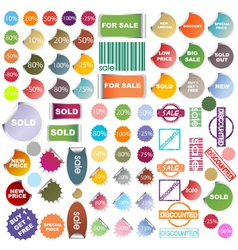 promotional stickers vector image