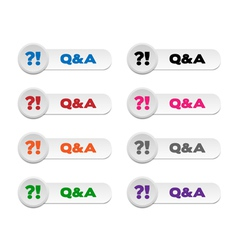 Question and Answer buttons vector image vector image