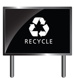 recycle icon on billboard vector image vector image
