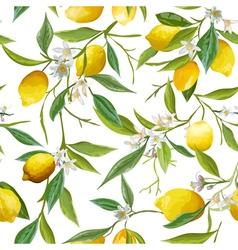 Seamless pattern lemon fruits background vector