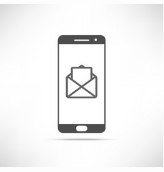 smartphone message icon vector image