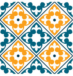 spanish tile pattern portuguese or moroccan tile vector image