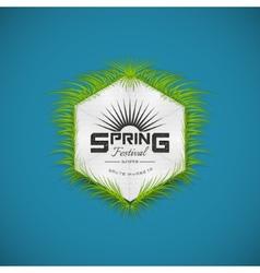 Spring festival realistic badge vector