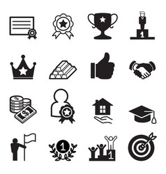 success icon set vector image