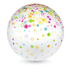 white ball with geometric pattern vector image vector image