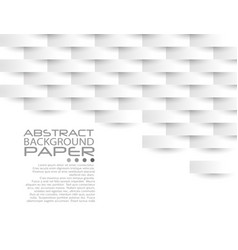 white geometric texture original cover template vector image vector image