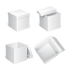 white gift boxes vector image vector image