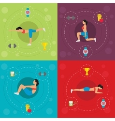 Workout For Active Woman Concept vector image