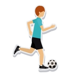 Person figure athlete soccer sport icon vector