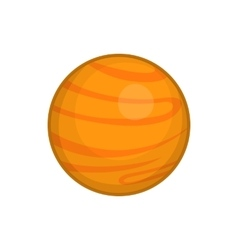 Mars icon cartoon style vector