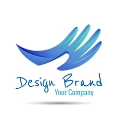 Hand stylized line logo creative colorful vector