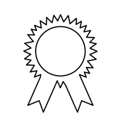 Medal first place isolated icon vector