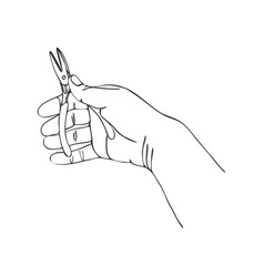 hand with pliers vector image