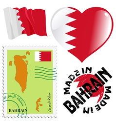 colours of Bahrain vector image