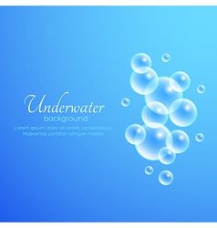 Air bubbles background vector